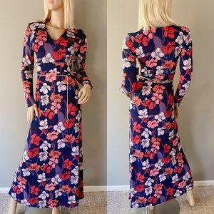 Juicy Couture Deco Floral Log Sleeve Maxi Dress S